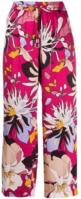 Liu Jo macro floral print trousers