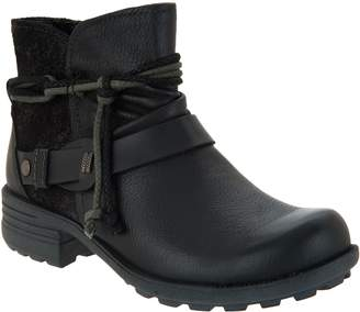 Earth Origins Leather Ankle Boots with Strap - Pandora
