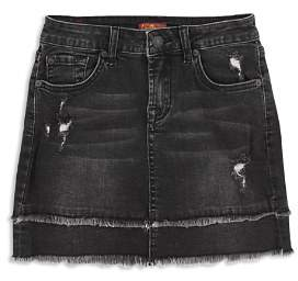 7 For All Mankind Girls' Distressed Denim Skirt - Big Kid