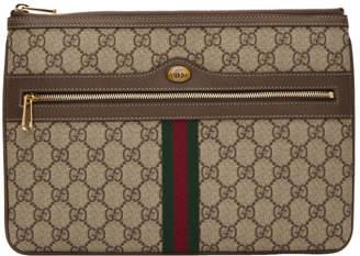 Gucci (グッチ) - Gucci ブラウン GG スプリーム オフィディア ポーチ