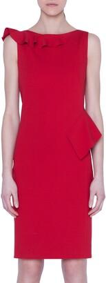 Akris Punto Ruffle Detail Jersey Dress
