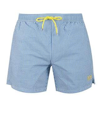 c1282c0891 Boss Bodywear BOSS Bodywear Velvet Fish Striped Swim Shorts Colour: BLUE,  Size: SMAL
