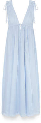Octavia Three Graces London Cotton-voile Maxi Dress - Light blue