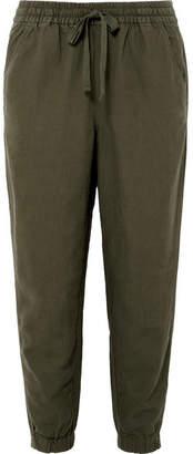 J.Crew Seaside Linen-blend Pants - Army green