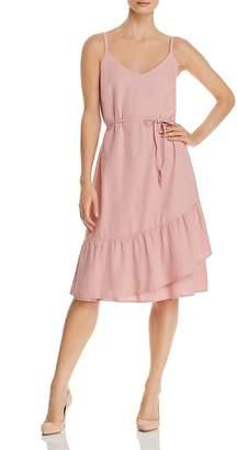 Vero Moda Faux-Wrap Ruffled Dress