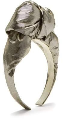 Benoit Missolin Gisele Knotted Headband - Womens - Silver