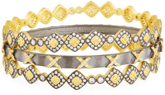 Freida Rothman Lattice Motif Bangles, Set of 3
