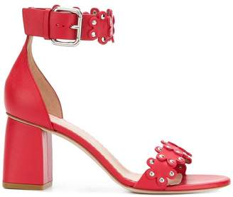 RED Valentino ankle strap flower sandals