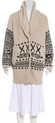 Sonia Rykiel Long Sleeve Wool & Yak-Blend Jacket