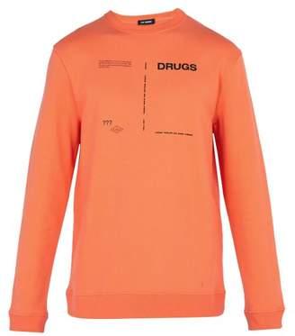 Raf Simons Printed Cotton Sweatshirt - Mens - Orange