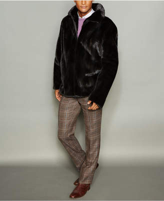 The Fur Vault Men Mink Fur Bomber Jacket