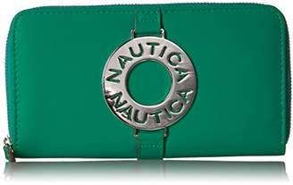 Nautica Ladies That Sail Zip Around Wallet Clutch With Rfid Blocking Wallet