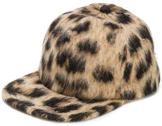 R 13 leopard print baseball cap