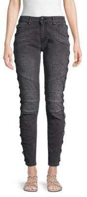 Pierre Balmain Distressed Ankle Jeans