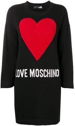 Love Moschino logo heart knitted dress