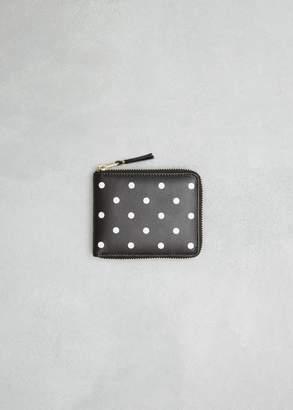 Comme des Garcons Dots Printed Leather Line Zip Wallet