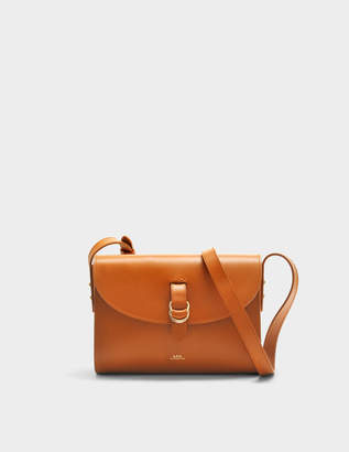 A.P.C. Alicia Bag in Caramel Shiny Calfskin