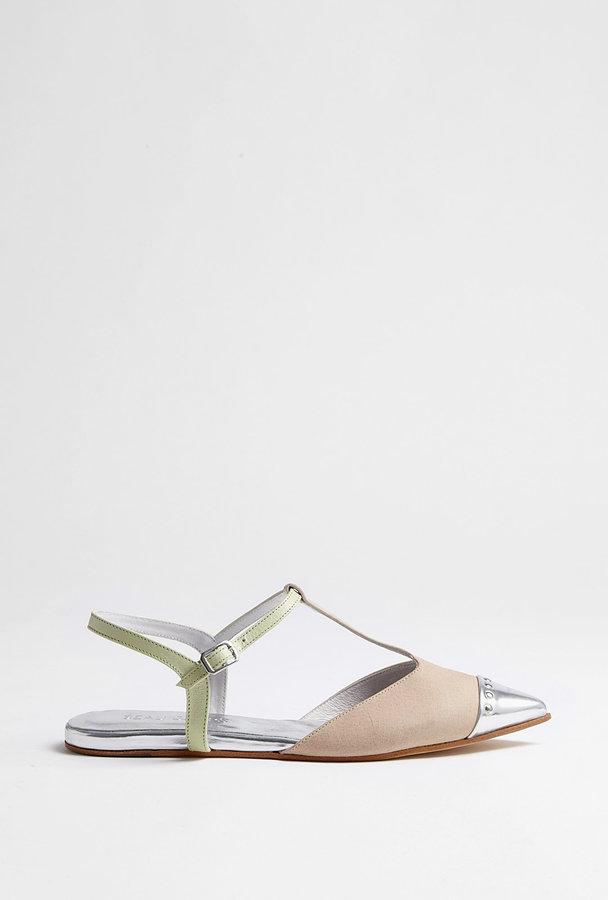 Beau Coops Rosa Coton T Bar Flat Sandal