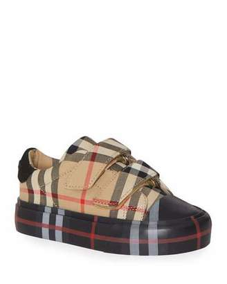 Burberry Kid's Mini Markham Check Sneakers, Baby/Toddler