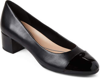 Easy Spirit Black Apricot Blocked Heels