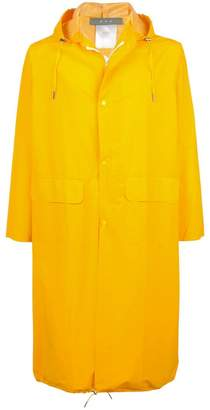 Geo mid-length raincoat