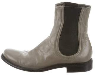 Rocco P. Leather Round-Toe Ankle Boots