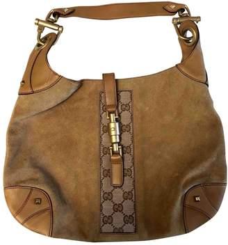 Gucci Camel Suede Handbag