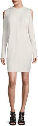 PROJECT RUNWAY Project Runway Long Sleeve Cold Shoulder Sweatshirt Dress