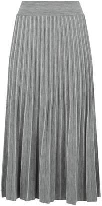 D-Exterior D.Exterior Pleated Metallic Thread Skirt