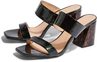 Topshop Selina Tortoiseshell Heel Slide Sandal