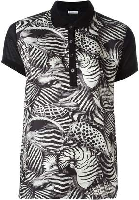 Moncler animal print polo shirt