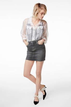 J Brand Lyla Mid-Rise Mini Skirt In Obscura