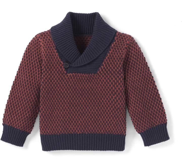 La Redoute Collections Shawl Collar Jumper, 1 Month - 3 Years