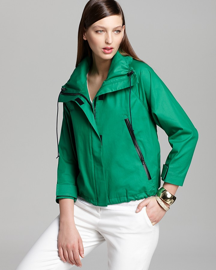 DKNY Three Quarter Sleeve Zip Front Jacket