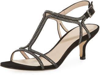 Pelle Moda Abbie Embellished Suede Sandal