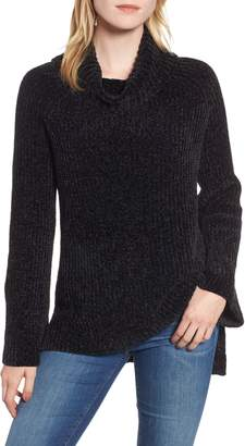 Lucky Brand Cowl Neck Chenille Sweater