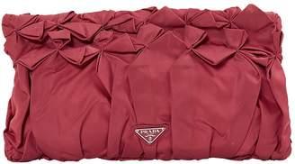 Prada Red Silk Clutch Bag