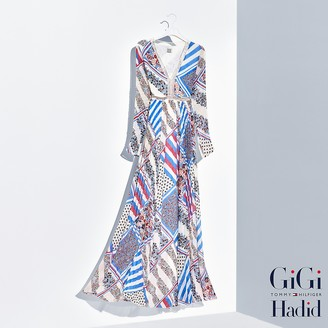 Pure Silk Printed Maxi Dress Gigi Hadid $375 thestylecure.com