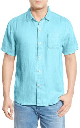 Tommy Bahama Seaglass Breezer Short Sleeve Linen Sport Shirt (Big & Tall) $110 thestylecure.com