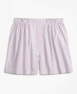 Brooks Brothers Traditional Fit Alternating Check Boxers