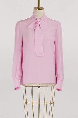 Miu Miu Silk bow shirt