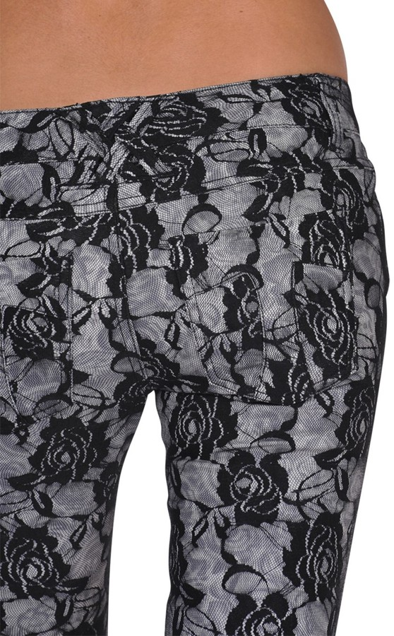 Tripp Lace Rose Print Skinny Jean