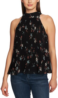 1 STATE 1.STATE Floral Belle Mix Pleat Halter Top