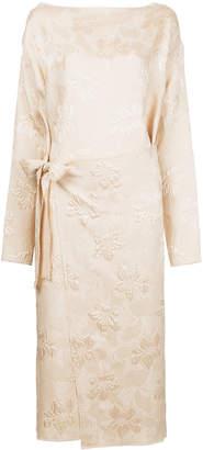MS MIN jacquard wrap dress