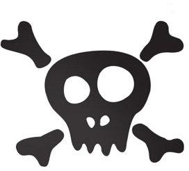 Ferm Living Skull Wall Decal