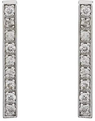 Jennifer Meyer Women's Pavé White Diamond Long Bar Stud Earrings