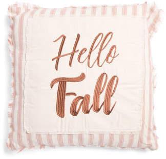 20x20 Hello Fall Cotton Pillow