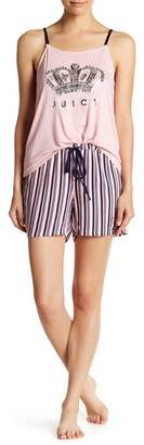 Juicy Couture Pajama Tank Top & Shorts 2-Piece Set