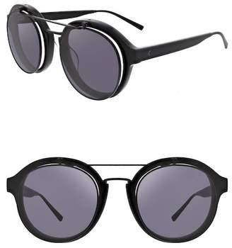 KENDALL + KYLIE Kendall & Kylie Women's Raquel Retro Flip Up Round Sunglasses