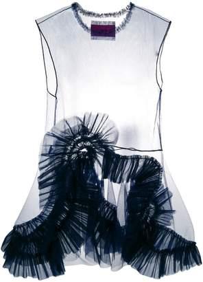 Viktor & Rolf organza sleeveless mini dress